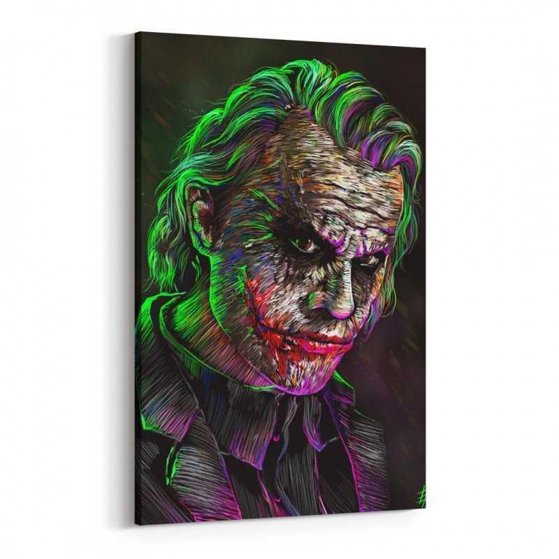 Batman Joker Çizim Kanvas Tablo