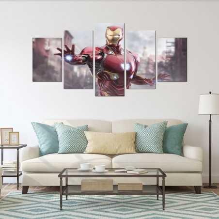 Iron Man  Parçalı Kanvas Tablo