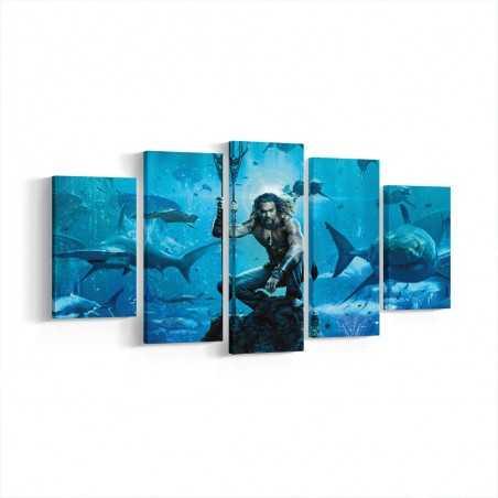 Aquaman  Parçalı Kanvas Tablo