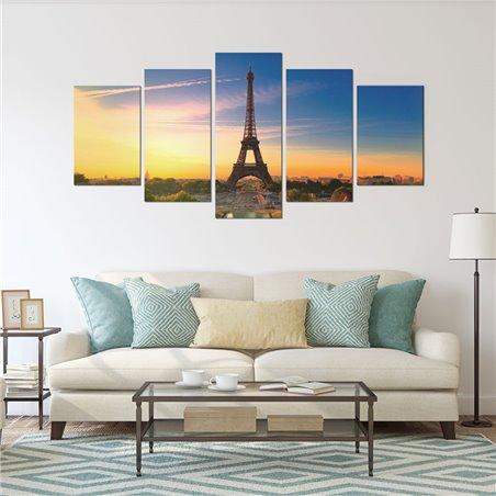 Eyfel Kulesi - Paris Parçalı Kanvas Tablo