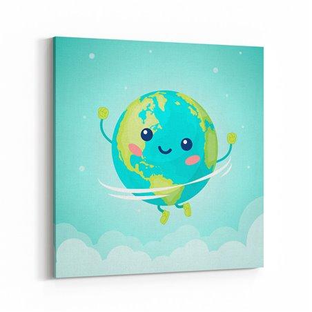 Sevimli Dünya Çocuk Odası Kanvas Tablo