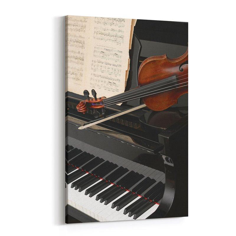 Keman ve Piyano Kanvas Tablo