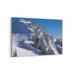 Kar ve Çam Ağaçları Kanvas Tablosu