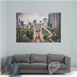 Şehir ve Köprü Kanvas Tablosu