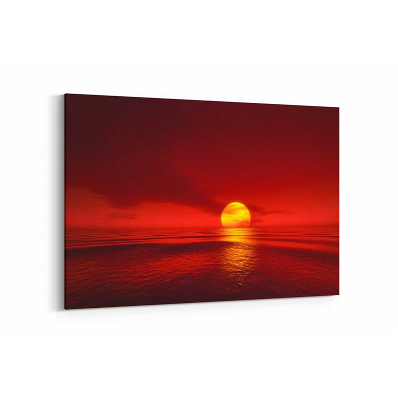 Güneşin Batışı Kanvas Tablosu