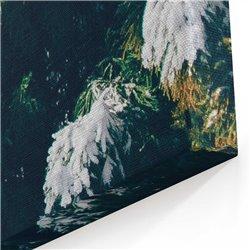Karlı Çam Ağaçlar Kanvas Tablosu