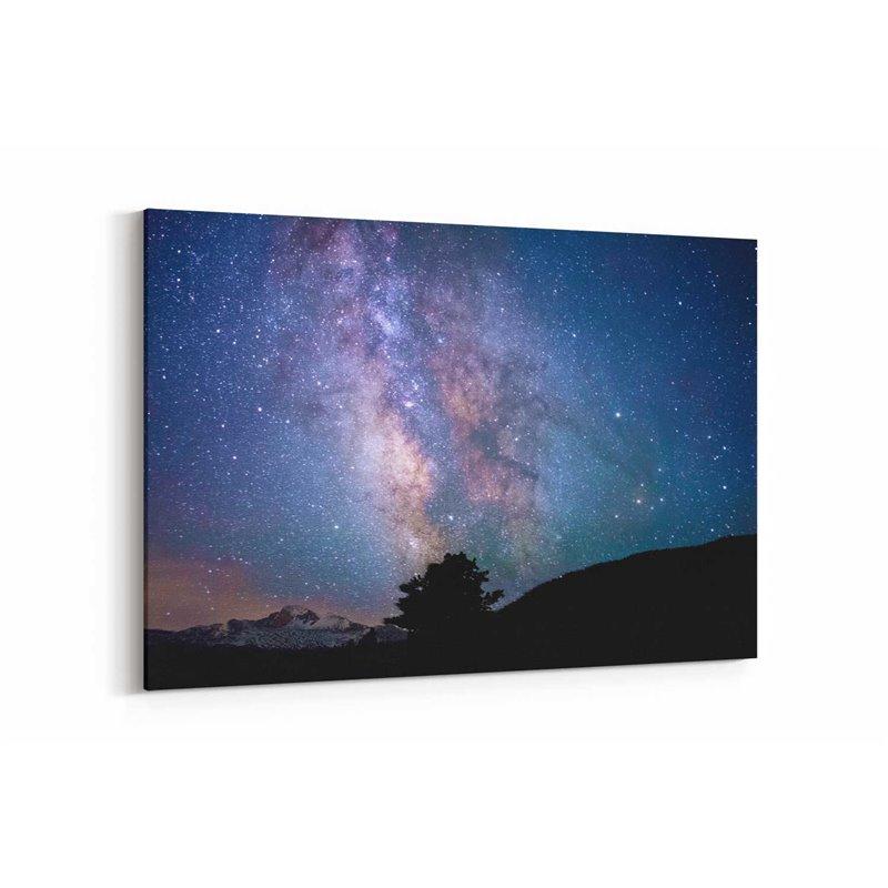 Gökyüzü ve Yıldızlar Kanvas Tablosu