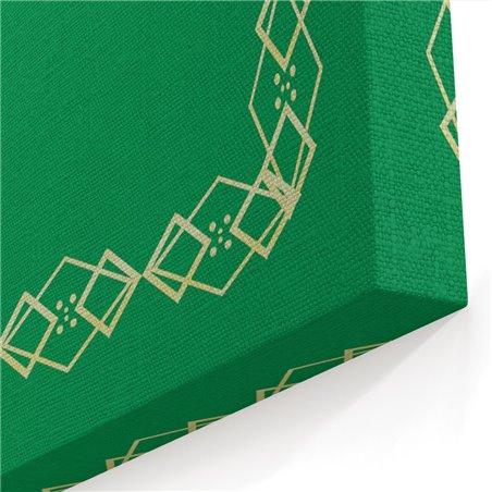 Tabrika Yeşil Desenli Allah Lafzı Kanvas Tablo