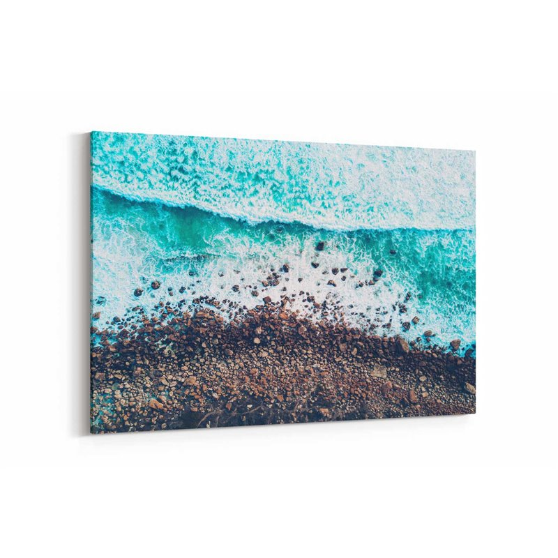 Dalgaların Kıyıya Vurması Kanvas Tablosu