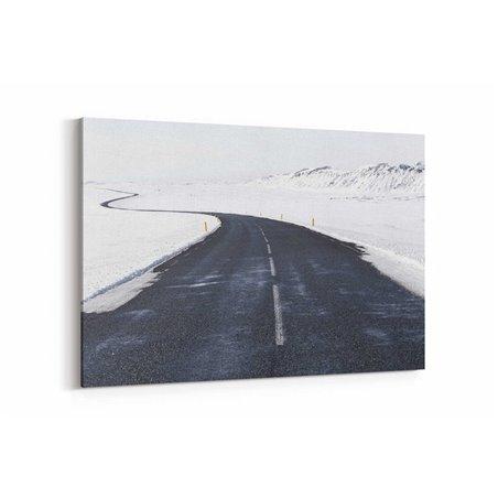 Karlı Yol Kanvas Tablosu
