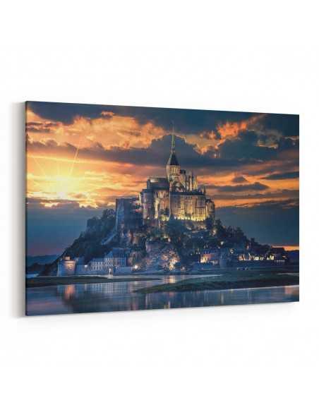 Mont Saint-Michel - Fransa Kanvas Tablo