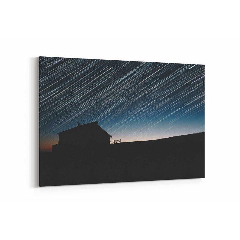 Uzun Pozlama Yıldızlar Kanvas Tablosu