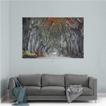 Ağaçlı Yol Kanvas Tablosu
