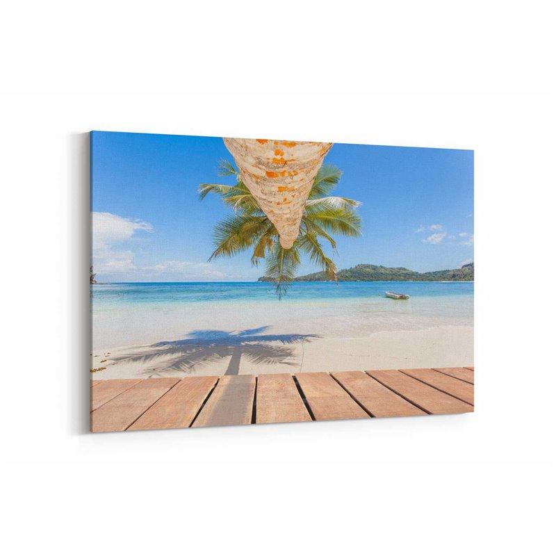 Kumsaldaki Palmiye Kanvas Tablosu