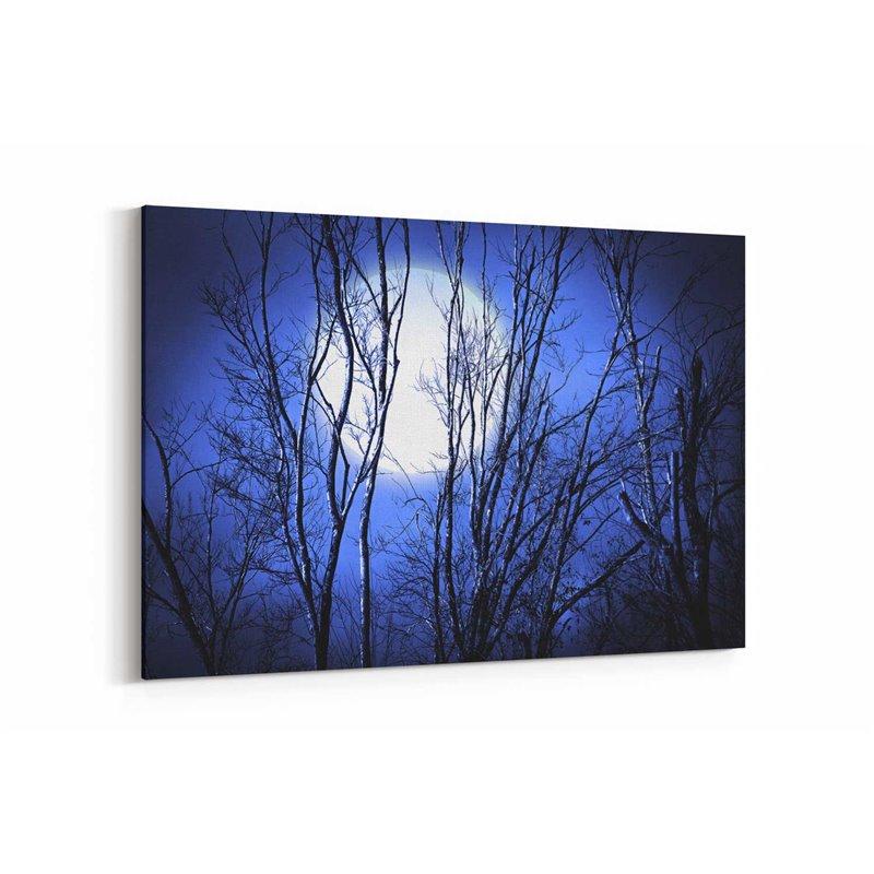 Gece Ağaç Dalları Kanvas Tablosu