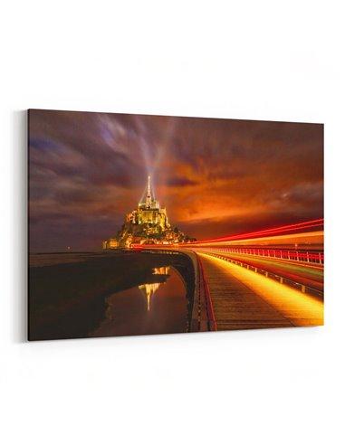 Mont Saint-Michel Kanvas Tablo