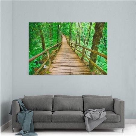 Orman Köprüsü Kanvas Tablosu