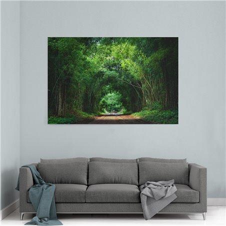 Orman Yolu Kanvas Tablosu