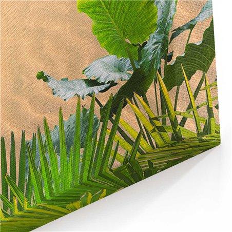 Sahil ve Palmiyeler Kanvas Tablosu